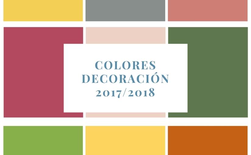 Los colores tendencia para la temporada2017/2018