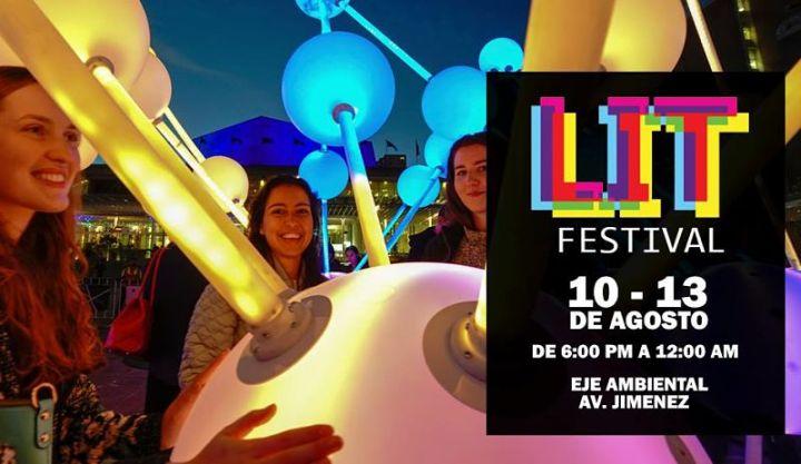 lit: festival de luces en Bogotá