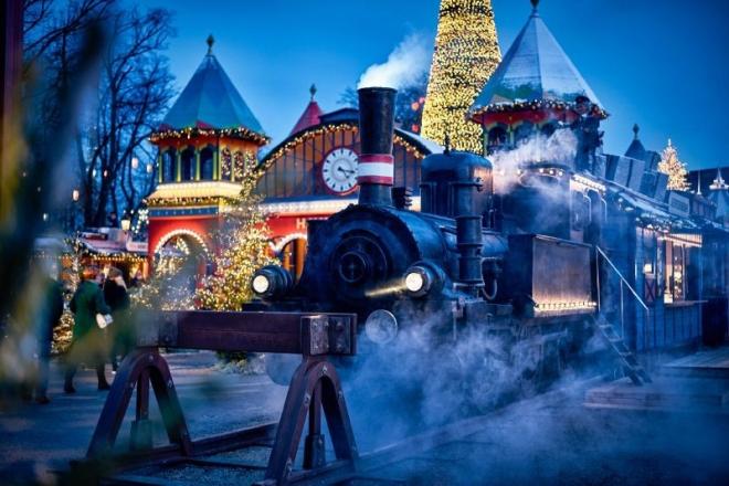 Tren de Vapor en la Navidad de Tivoli 2017
